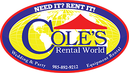 Party Rentals in Mandeville LA | Equipment Rental in Covington LA, St. Tammany Parish, and the North Shore