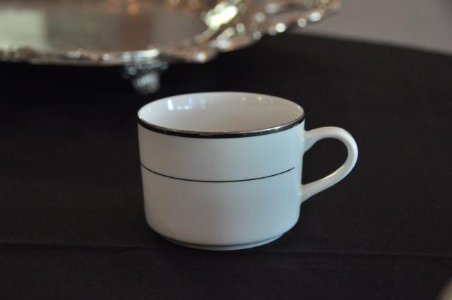 Where to find COFFEE CUP, WHT SILVER TRIM in Covington