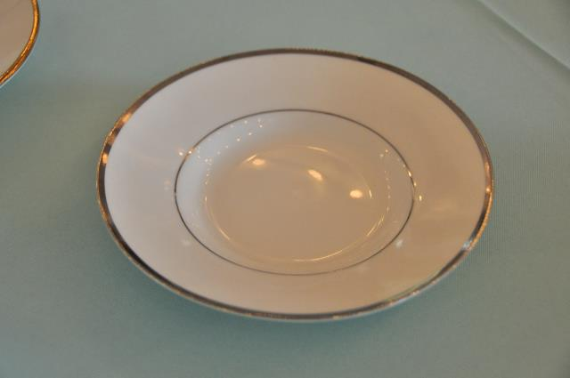 Where to find COFFEE SAUCER, WHT SILVER TRIM in Covington