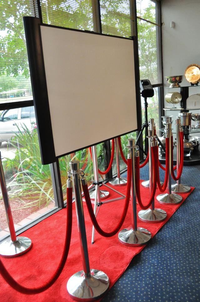Where to find SILVER STANCHIONS SET W  RED ROPE in Covington